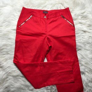 Vince Camuto Women Size 4 Tomato Red Zip Pockets C